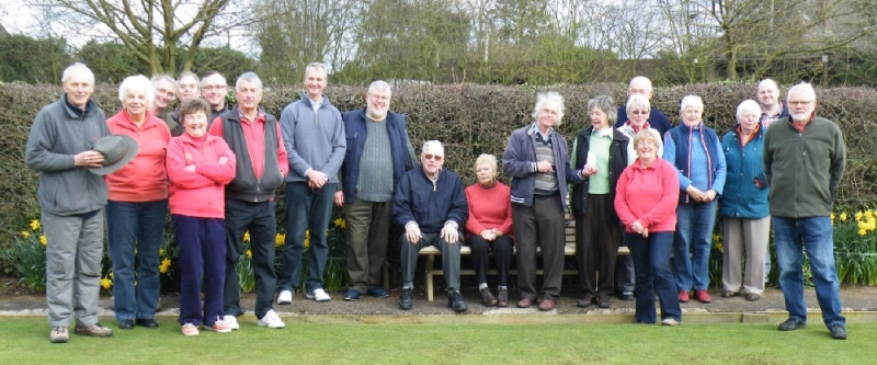 Members of Wollerton Bowls Club