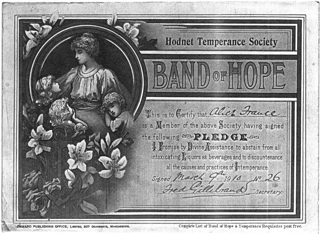 Certificate Band Of Hope