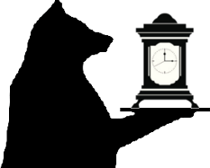 Bear with Carriage Clock