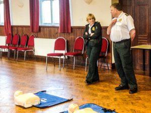 Cliff Medlicott & Dawn Bush, instructors from West Midlands Ambulance Service