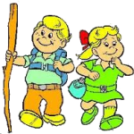 Boy & Girl Walking