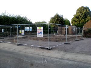 Site of the demolished house at Shakeford
