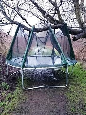 Lost Trampoline On Old Railway